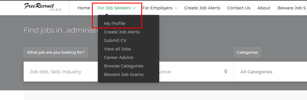Create a free online Candidate profile
