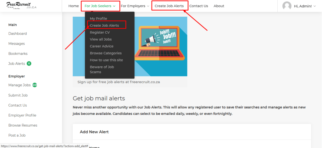 How to set up Job Alerts for free